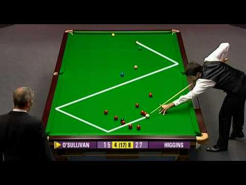 UK Championship 2009 Day 8. OSullivan — Higgins. Frame 13, weird situation