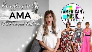 REACTING TO THE 2018 AMA RED CARPET LOOKS! FT TAYLOR SWIFT, CARDI B, JLO AND MORE | MJ