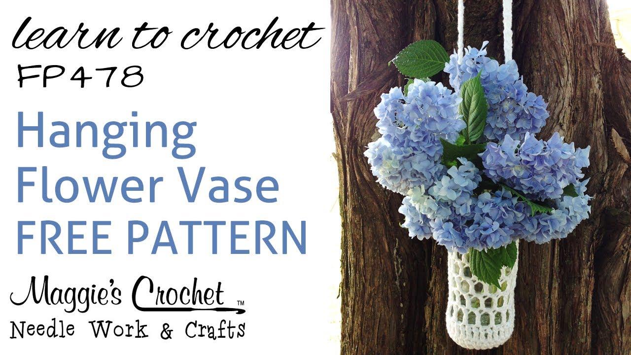 Crochet Free Pattern Beginner Flower Vase How To With ...