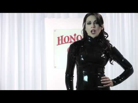 Honour Latex Rubber Midnight Dress on Emily Booth