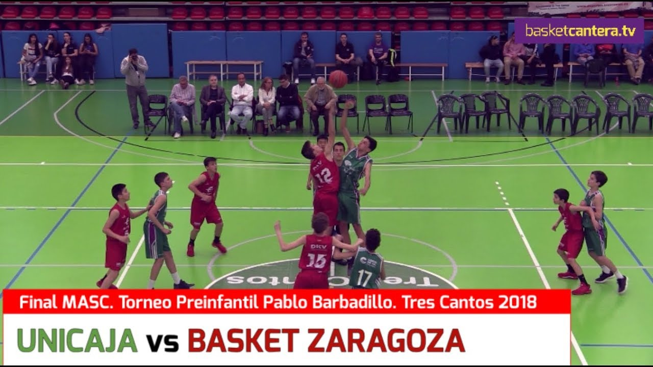 U13M - UNICAJA vs BASKET ZARAGOZA.- Final Memorial Pablo Barbadillo de Tres Cantos 2018 (BasketCantera.TV)