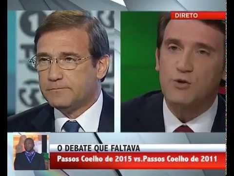 O Passos Coelho de 2015 em debate com o de 2011.