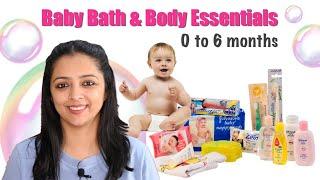 Baby Bath & Body Essentials (0 to 6 months)