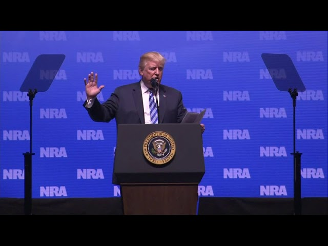 Trump Denounces Russia Probe in NRA Speech