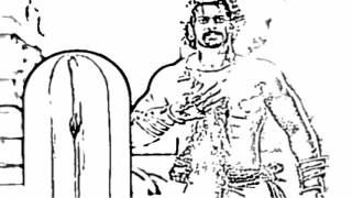 how to draw prabhas in bahubali step by step