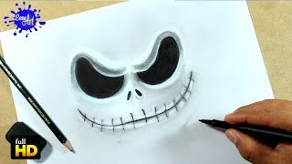DRAWING FACE JACK SKELLINGTON/ How to draw Jack skellington