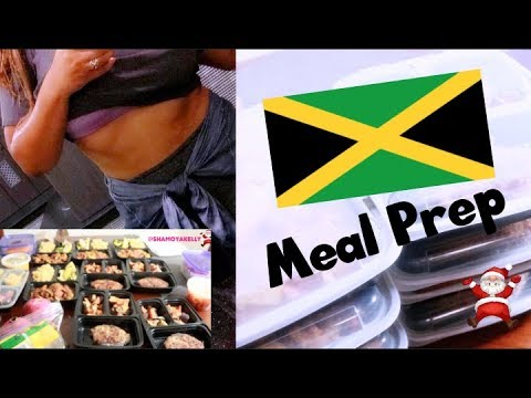 Jamaican MEAL PREP | VLOGMAS DAY 2 :Jamaican Food Done Healthy - Shamoya Kelly