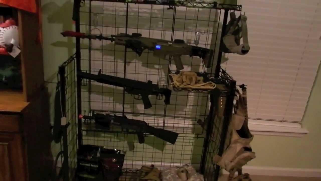 Airsoft Gun Rack Review Youtube
