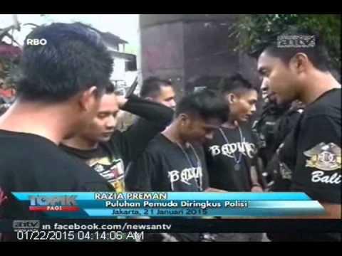 [ANTV] TOPIK, Polisi Bersenjata Lengkap Dikerahkan Untuk Merazia Preman