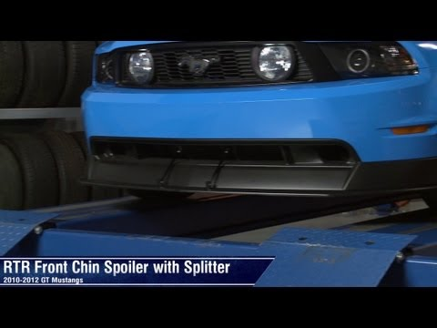 Mustang RTR Front Chin Spoiler with Splitter (10-12 GT) Review