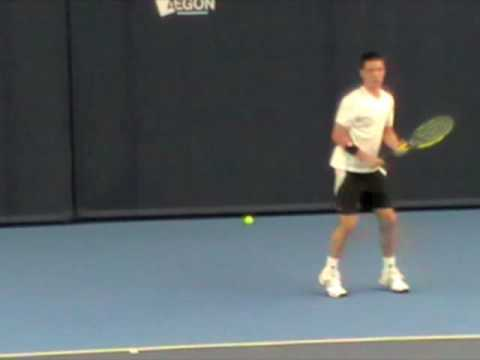 Colin Fleming and Jamie Baker in training ahead of the AEGON Team GB Davis Cup tie vs Lithuania.