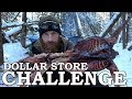 DOLLAR STORE SURVIVAL CHALLENGE In The FOREST BUSHCRAFT Shelter With Wild RABBIT mp3