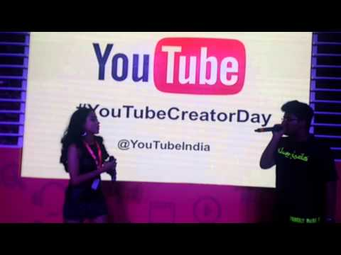 Beedi Jalaile - Shweta Subram's Impromptu Performance At #youtubecreatorday video