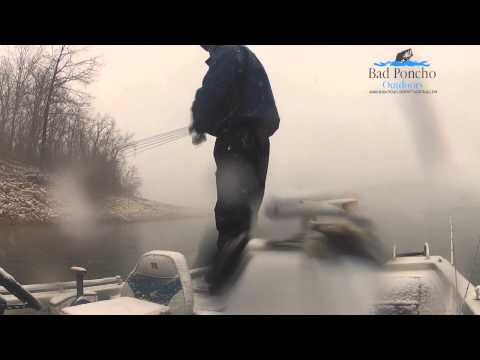 Bass Fishing in an Arkansas Blizzard