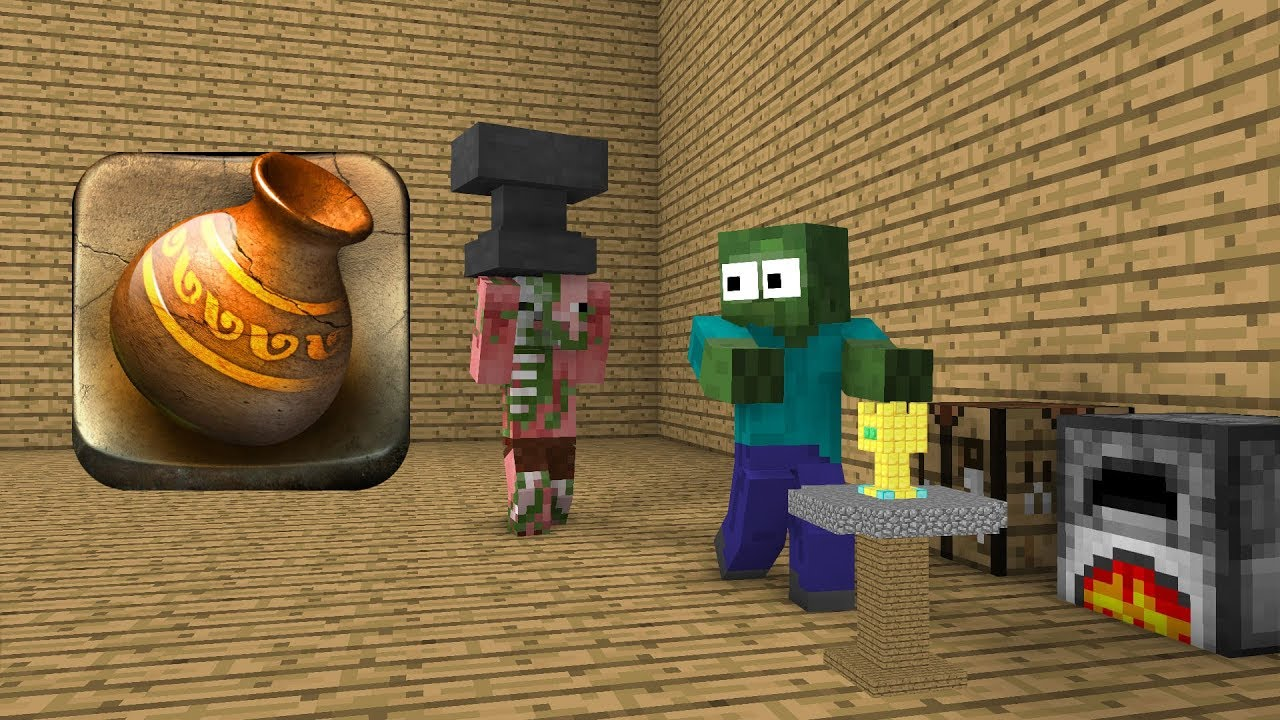 Monster School : Pottery - Minecraft Animation