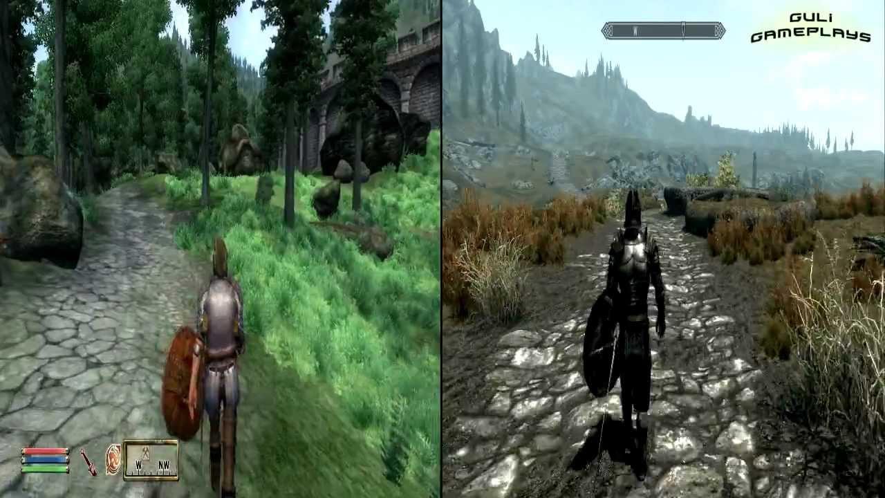 TES : Oblivion vs Skyrim - YouTube