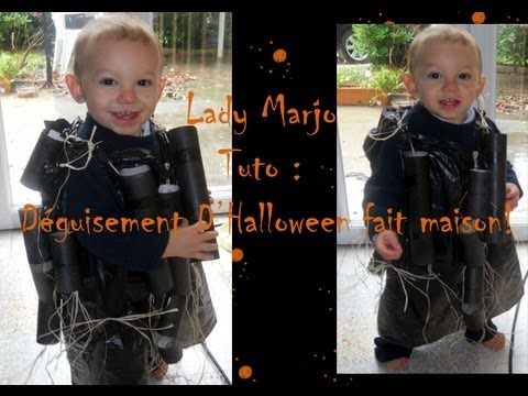 Lady Marjo tuto déguisement dHalloween fait main. - YouTube