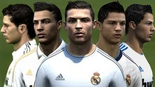 Cristiano Ronaldo from FIFA 04 to 14 Face Rotation and Stats | HD 1080p