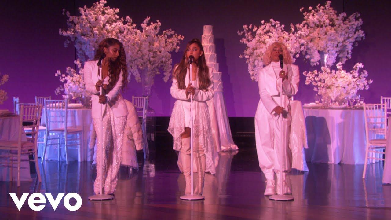 "Ariana Grande - 米The Ellen Showにて新曲""thank u, next""など2曲を披露 スタジオライブ映像を公開 thm Music info Clip"