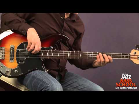 Bass Guitar Lessons With John Patitucci: Major Arpeggios With Inversions video