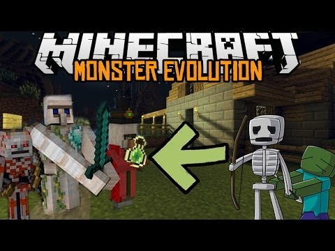 Minecraft mody 1.7.2 #95 MONSTER EVOLUTION MOD ZMUTOWANE MOBY