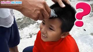 Lần đầu bố cắt tóc cho Bé Kem và cái kết thật bất ngờ