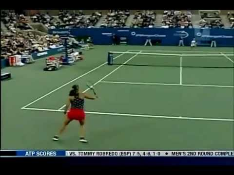 [HL] Justine Henin vs. Jennifer Capriati 2003 US Open [SF] [1/2]