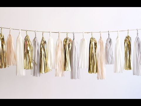 How to make crepe paper party fringe