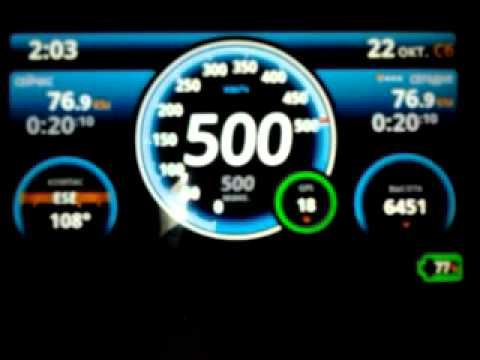 Ulysse Speedometer on the plane board (Android)