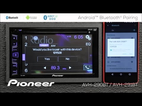 How To - Android Phone Bluetooth Pairing - Pioneer AVH-290BT, AVH-291BT, MVH-AV290BT