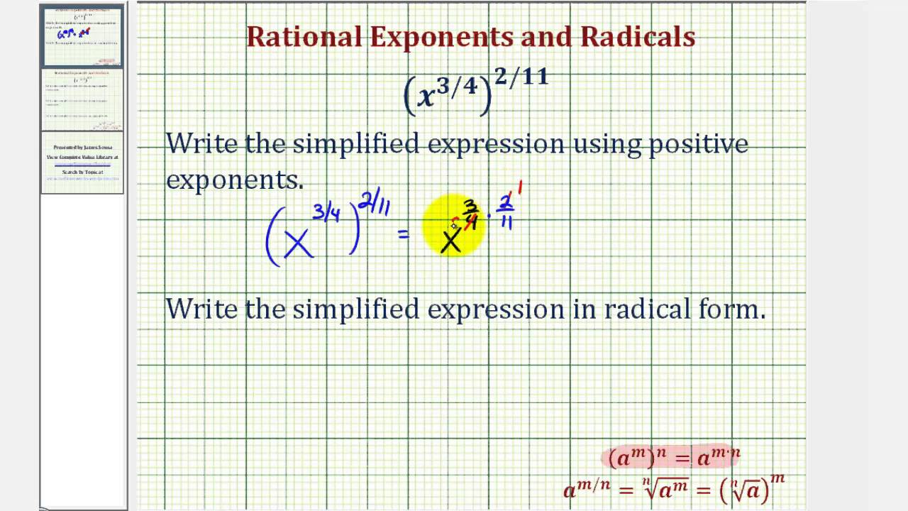 Rewriting Radical and Rational Exponents (Plus Exponents Review)