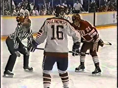 Олимпийские игры 1988 года, Калгари, СССР-Канада, 1 период