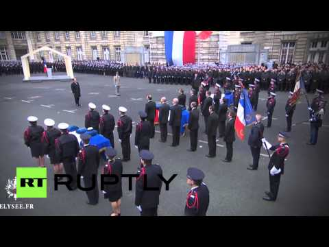 France: Hollande honours police victims of Paris terror attacks