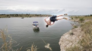 ILLEGAL CLIFF JUMPING!