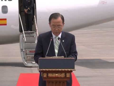 UN Secretary-General Ban Ki-moon visited Kosovo