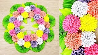 Paper Wall Hanging Craft Ideas - Paper Flower - Paper Craft - Wall Decoration Ideas. k8