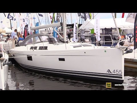 2017 Hanse 455 Sailing Yacht - Deck and Interior Walkaround - 2016 Annapolis Sailboat Show