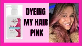 DYEING MY HAIR PINK: KERACOLOR CLENDITIONER