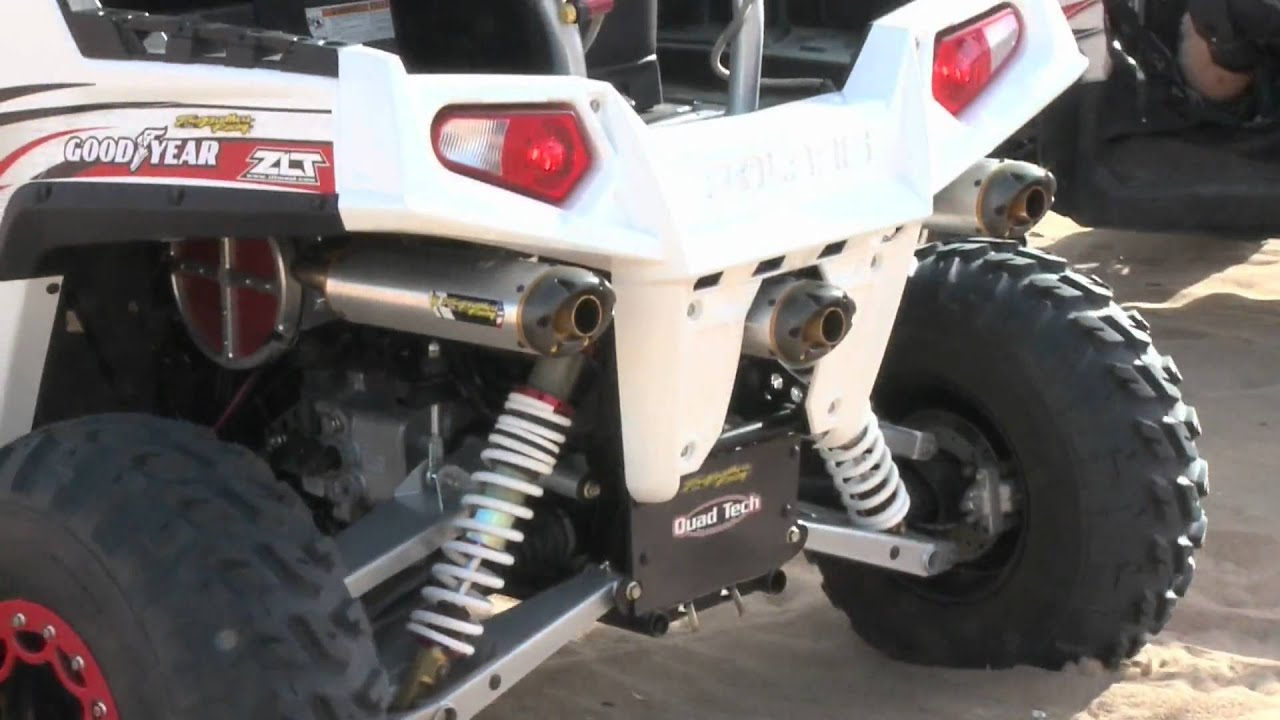 Polaris RZR/S with Two Brothers Racing Triple Exhaust System - YouTube