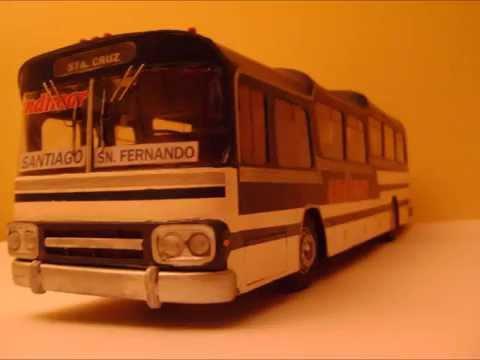 maquetas buses chilenos