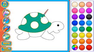 Game tô màu - trò chơi tô màu - tô màu con rùa
