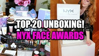 TOP 20 UNBOXING | NYX Face Awards 2017