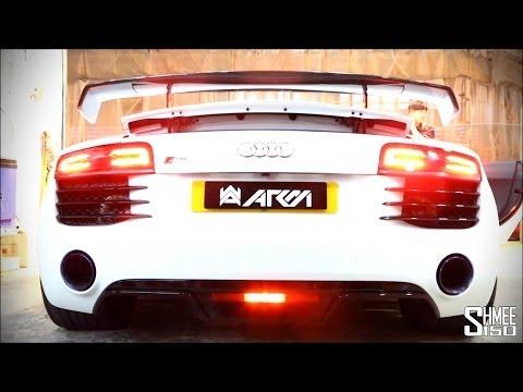 ARMYTRIX Audi R8 V8 2014 Titanium Exhaust System - Loud Revs And Sounds