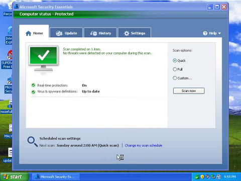 Microsoft Security Essentials Prevention Test