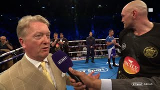Frank Warren: Tyson Fury and Tony Bellew could fight this year