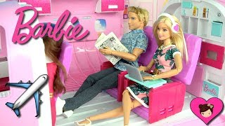 Barbie & Ken Airplane Travel Routine - Holiday Hotel Vacation - Titi Dolls