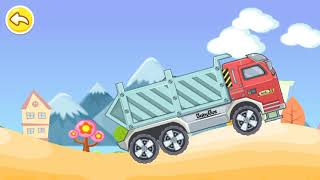 Funny game Baby bus, crane & dump truck game for kids
