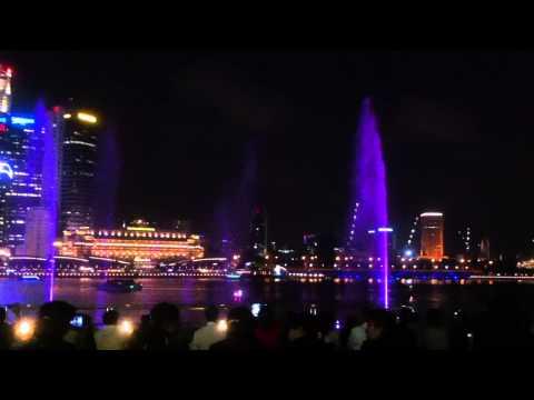 Singapore. Marina Bay Sands laser light show.