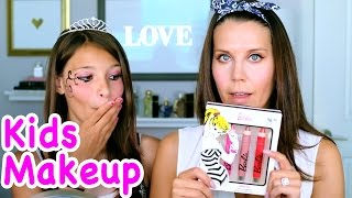 FULL FACE USING ONLY KIDS MAKEUP CHALLENGE | Tati