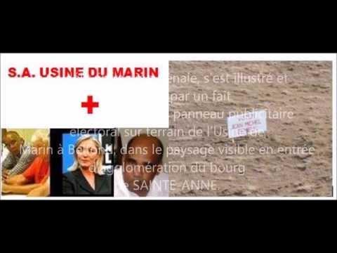 Sainte Anne Martinique  délits de financement et dons à JM GEMIEUX, Etat français complice